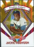 2009 Topps Legends Chrome Target Cereal Gold Refractors #GR12 Jackie Robinson