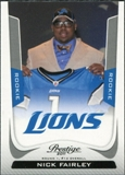 2011 Panini Prestige #269B Nick Fairley Draft SP
