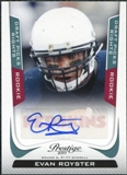 2011 Panini Prestige Draft Picks Rights Autographs #240 Evan Royster /599