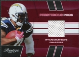 2011 Panini Prestige Prestigious Pros Materials Red #44 Ryan Mathews /250