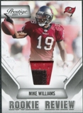 2011 Panini Prestige Rookie Review Materials Prime #30 Mike Williams