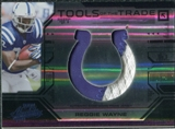 2008 Playoff Absolute Memorabilia Tools of the Trade Material Oversize Team Logo Black #27 Reggie Wayne /10