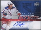 2008/09 Upper Deck Trilogy #SSCD Chris Drury Superstar Scripts Auto