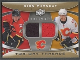 2008/09 Upper Deck Trilogy #2WDP Dion Phaneuf Two-Way Threads Jersey