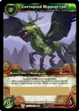 World of Warcraft Crown of the Heavens Single Corrupted Hippogryph Loot Card