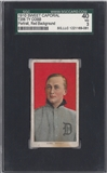 1910 T206 Sweet Corporal Ty Cobb Portrait/Red Background SGC 40 (VG) *9061