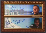 2006 Upper Deck Hawaii Trade Conference Signature Dual Jumbos #HTC2FE Charlie Frye Braylon Edwards 6/10
