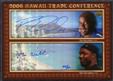 2006 Upper Deck Hawaii Trade Conference Signature Dual Jumbos #HTC2WW Roy Williams Mike Williams 5/10