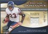 2009 Upper Deck Icons Decade of Dominance Jerseys #DDDH Devin Hester /199