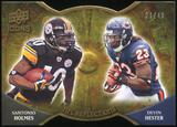 2009 Upper Deck Icons NFL Reflections Die Cut #RFHH Devin Hester Santonio Holmes 21/40