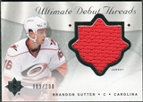 2008/09 Upper Deck Ultimate Collection Debut Threads #DTBS Brandon Sutter /200