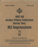 1997/98 Upper Deck Jordan Tribute Collection Series 2 MJ Impressions Blister Box
