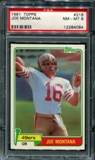 1981 Topps Football #216 Joe Montana Rookie PSA 8 (NM-MT) *4084