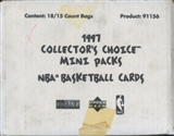 1997 Upper Deck Collector's Choice Basketball Mini Pack Case