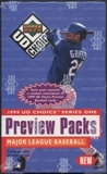 1999 Upper Deck Choice Series 1 Baseball Preview Packs Box