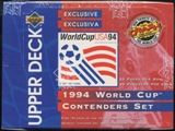 1994 Upper Deck World Cup English/Spanish Contenders Soccer Jumbo Box