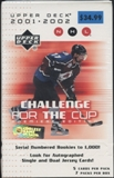 2001/02 Upper Deck Challenge For The Cup Hockey Blaster Box