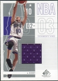 2002/03 Upper Deck SP Game Used #83 Mike Bibby Jersey