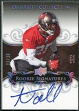 2008 Upper Deck Exquisite Collection Silver Holofoil #107 Aqib Talib RC Autograph 23/30