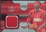 2002/03 Upper Deck Ovation Authentics Shooting Shirt #DJS DerMarr Johnson