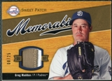2007 Upper Deck Sweet Spot Sweet Swatch Memorabilia Patch #GM Greg Maddux 8/25