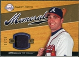 2007 Upper Deck Sweet Spot Sweet Swatch Memorabilia Patch #JF Jeff Francoeur /25