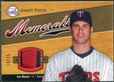 2007 Upper Deck Sweet Spot Sweet Swatch Memorabilia Patch #JM Joe Mauer 19/25