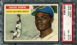 1956 Topps Baseball #154 Dave Pope PSA 8 (NM-MT) *9160