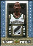 2007/08 Upper Deck UD Game Patch #KT Kevin Garnett
