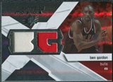 2008/09 Upper Deck SPx Winning Materials #WMIBG Ben Gordon
