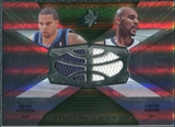 2008/09 Upper Deck SPx Winning Materials Combos #WMCBW Deron Williams Carlos Boozer