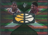 2008/09 Upper Deck SPx Winning Materials Combos #WMCEJ Magic Johnson Julius Erving