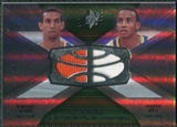 2008/09 Upper Deck SPx Winning Materials Combos #WMCEW Brandan Wright Monta Ellis