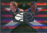 2008/09 Upper Deck SPx Winning Materials Combos #WMCHN Dirk Nowitzki Josh Howard