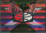 2008/09 Upper Deck SPx Winning Materials Combos #WMCMM Tracy McGrady Yao Ming