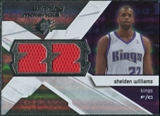 2008/09 Upper Deck SPx Winning Materials #WMJSW Shelden Williams