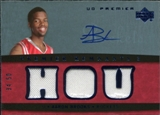 2007/08 Upper Deck Premier Remnants Triple Autographs #AB Aaron Brooks /50