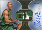 2007/08 Upper Deck SP Rookie Threads Patch Autographs #RTGP Gabe Pruitt /25