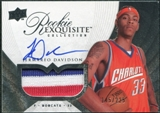 2007/08 Upper Deck Exquisite Collection #69 Jermareo Davidson Rookie Patch Autograph /225