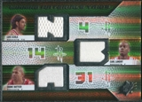 2008/09 Upper Deck SPx Winning Materials Trios #WMTBLS Luis Scola Carl Landry Shane Battier