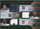 2008/09 Upper Deck SPx Winning Materials Trios #WMTBWB Deron Williams Carlos Boozer Ronnie Brewer