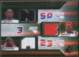 2008/09 Upper Deck SPx Winning Materials Trios #WMTRWO Emeka Okafor Gerald Wallace Jason Richardson