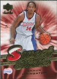 2007/08 Upper Deck Sweet Shot Stitches Patches #SL Shaun Livingston /35