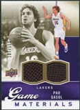 2009/10 Upper Deck Game Materials Gold #GJPG Pau Gasol /150