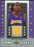 2007/08 Upper Deck UD Game Jersey #BY Andrew Bynum