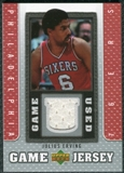 2007/08 Upper Deck UD Game Jersey #JE Julius Erving