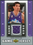 2007/08 Upper Deck UD Game Jersey #JS John Stockton