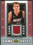 2007/08 Upper Deck UD Game Jersey #JW Jason Williams