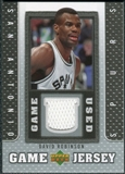 2007/08 Upper Deck UD Game Jersey #RO David Robinson