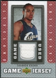 2007/08 Upper Deck UD Game Jersey #SB Shannon Brown